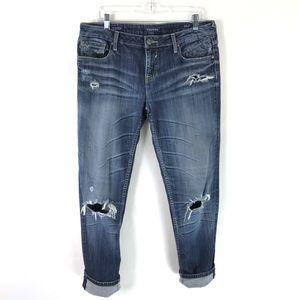 🍀VIGOSS Boyfriend Rolled Up Skinny Jeans Destroy